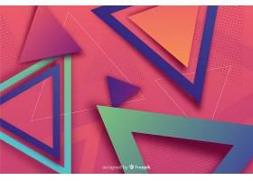 彩色渐变几何形状背景_5778623