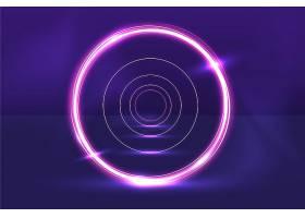 声音检查圆形抽象霓虹灯背景_9846917