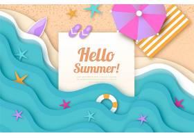 夏季纸质墙纸_8503367