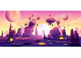 太空游戏背景的外星人景观_7773437