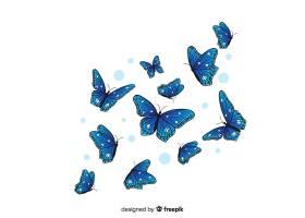 扁平蝴蝶飞舞的背景_4058909