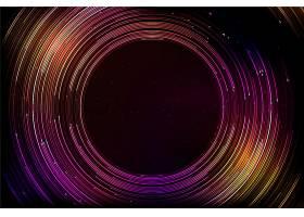 五颜六色的未来主义背景圆形线条_9260181