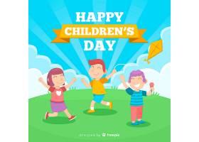 儿童玩平面设计背景_5718209