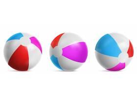 充气沙滩球条纹气球可在水中大海中或_12120278