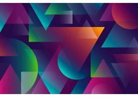 具有几何形状的彩色抽象背景_7065263