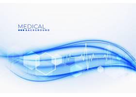具有有氧心跳线路的医疗和保健背景_7151631