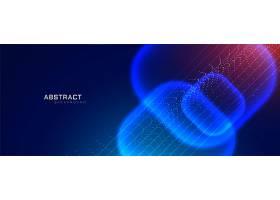 具有粒子效果的未来科技风格横幅_3009997