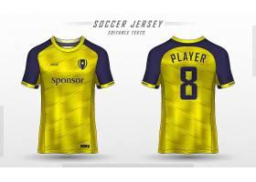 足球球衣样板运动t恤设计_13044897
