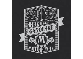 车用汽油排版标签设计很适合用在T恤或海_9512646