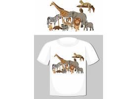 野生动物群体T恤设计_12321628