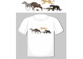 野生动物群体T恤设计_12735531