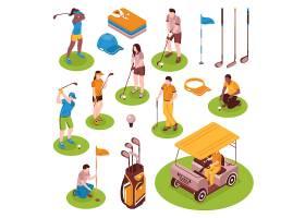 高尔夫等距元素集_5970701