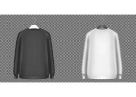 黑白运动衫长袖衬衫_9828139