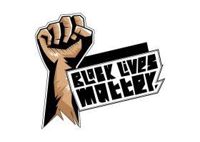 黑色生命也是插图T恤设计_9132714