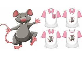 鼠标站立姿势的卡通人物白色衬衣种类繁多_11770559