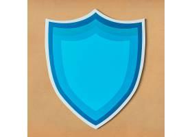 隔离的蓝色保护盾牌图标_2768363