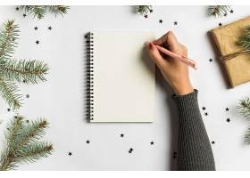 新年圣诞概念写作的目标计划梦想待办_5042010