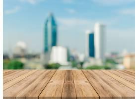 木板空桌面背景模糊透视棕色木桌覆盖模糊_1174407