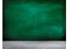 带粉笔的绿色黑板背景_2861609