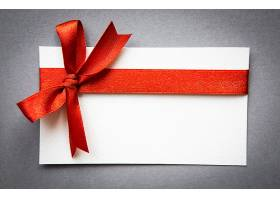 带红丝带蝴蝶结的卡片_1007637