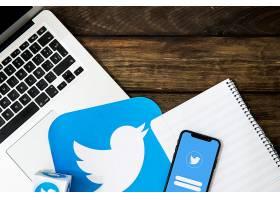 带记事本和Twitter图标的电子小工具_2602321
