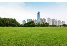 以树木和建筑物为背景的公园_973449