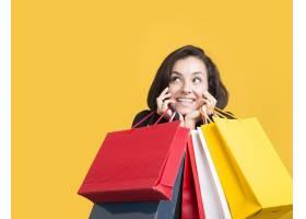 黑色星期五促销模式被购物袋覆盖_10419013
