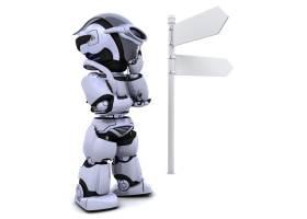 路标旁的机器人_958163