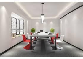 高层写字楼商务会议室配有五颜六色的装饰_9000543