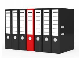 被黑色文件包围的红色文件_953468