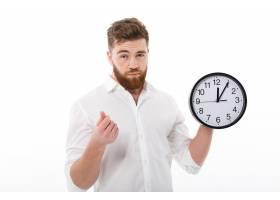 疲惫的男士穿着职业装表明时间就是金钱的_6871405