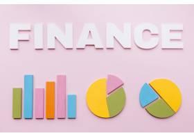 條形圖上有白色財務文本粉色背景上有兩個_2941709