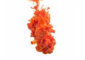 滴落在水中的橙色油漆_995073