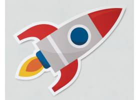 火箭飞船发射标志图标_2769605