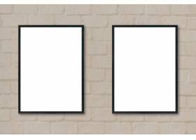 挂在墙上的黑色框架_997574