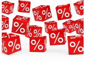 带百分比的红色骰子_955255