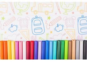 彩绘纸上的彩色记号笔_2436963