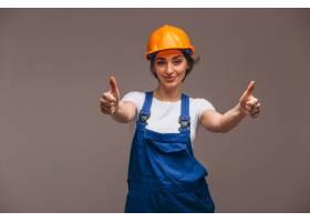 女修理工与油漆滚筒隔离_4410591