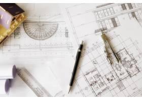 工程对象在工作场所俯视图上的图像建筑概_1238632