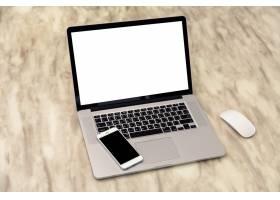 带手机盖的笔记本电脑_992345