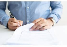 商务人士签署文件特写_3628591