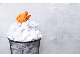 垃圾桶里的白纸_10786484