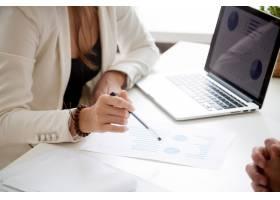 分析新的营销计划和销售统计概念特写_3939762