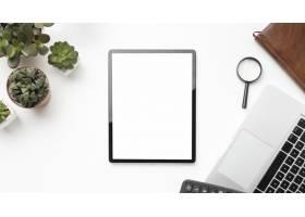 一种带有空屏书写板的平放书桌元件布置_10570591