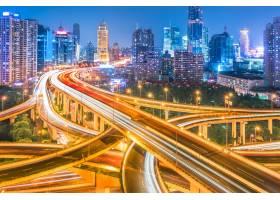 上海立交桥夜景鸟瞰_1119479