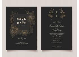 带有精美设计模板的婚礼请柬_7626670