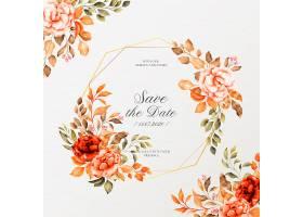 浪漫的婚纱相框配上复古鲜花_6490246