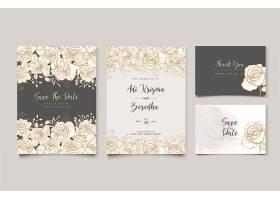 典雅的花卉主题婚礼邀请函设计_8762659
