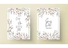 复古结婚贺卡花卉设计_12991000