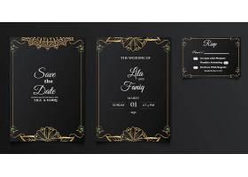 套装精美豪华婚礼邀请卡设计_12573710